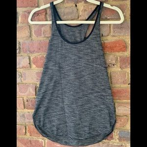 Lululemon tank top- size 8. Black and gray